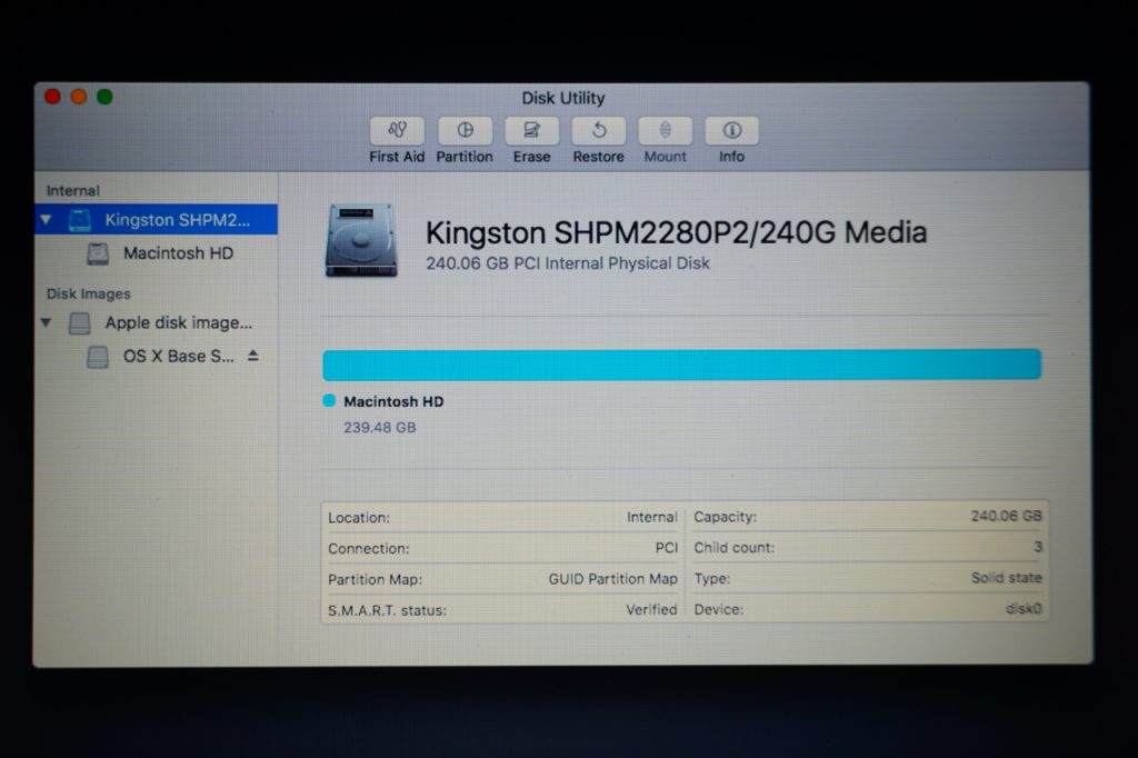 New Replacement MacBook SSD is Formatted and Ready to Use