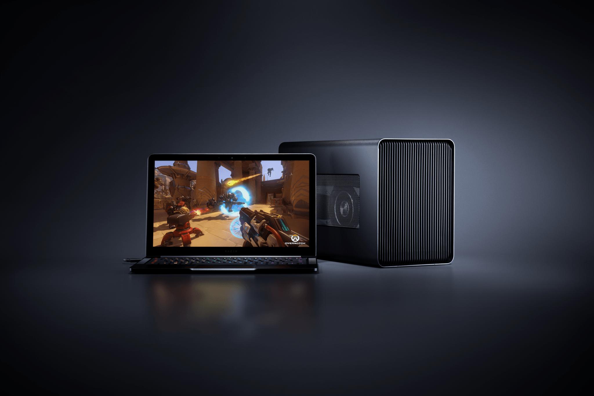 Razer Core X external GPU enclosure with 100 Watt charging power