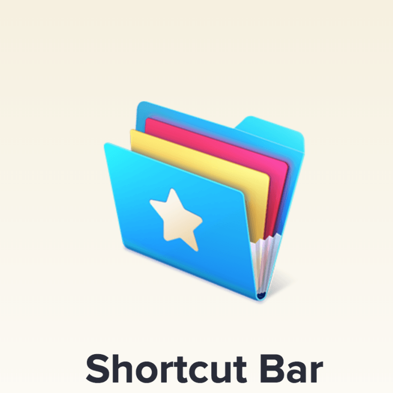 Shortcut Bar for macOS: Bookmarks and Text Blocks immediately available