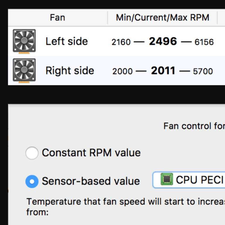 Workaround: Turn up fans to cool i9 in MacBook Pro 2018