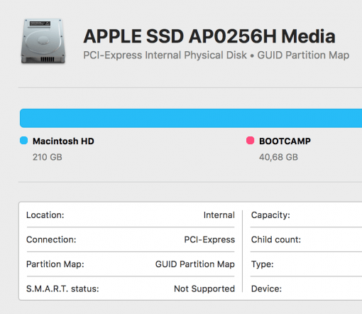 Apple SSD Disk Utility