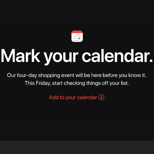Apple announces shopping event – starting Friday