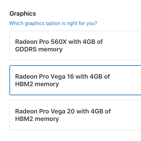 MacBook Pro 15″ Now Available with Radeon Pro Vega 16 and 20 Graphics