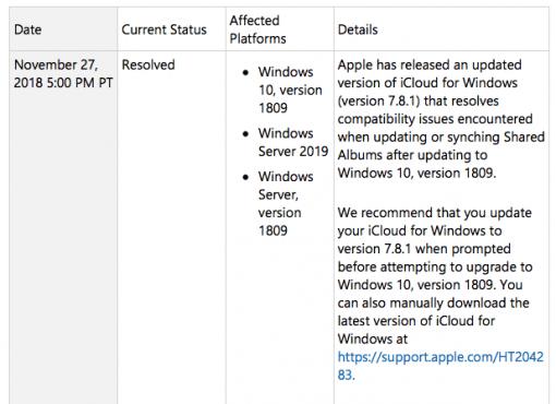 windows 1809 10
