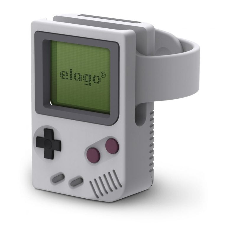 Elago W5 booth for the Apple Watch looks like a GameBoy