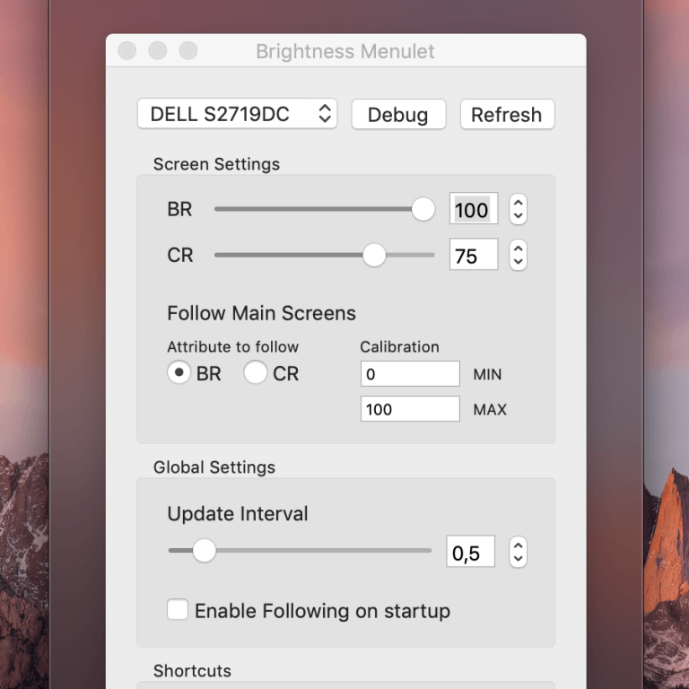 macOS: Control the brightness of an external monitor easily