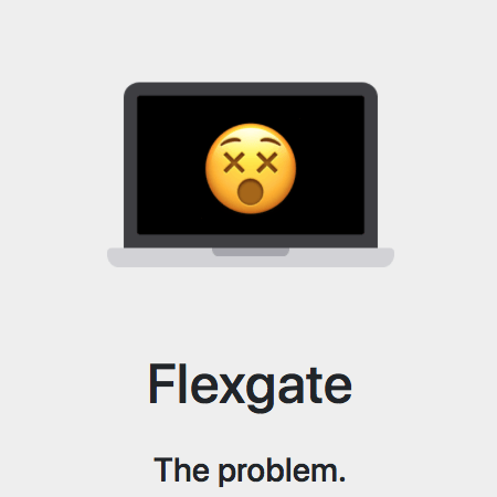 The MacBook Pro display turns black again when you open it