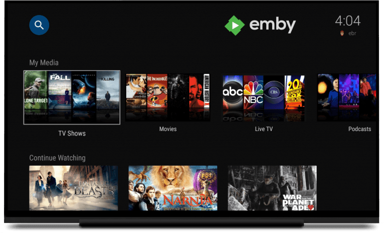 For your own media: Plex Alternative emby