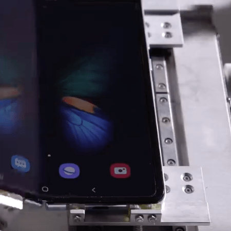 How long does a smartphone with a foldable display last?