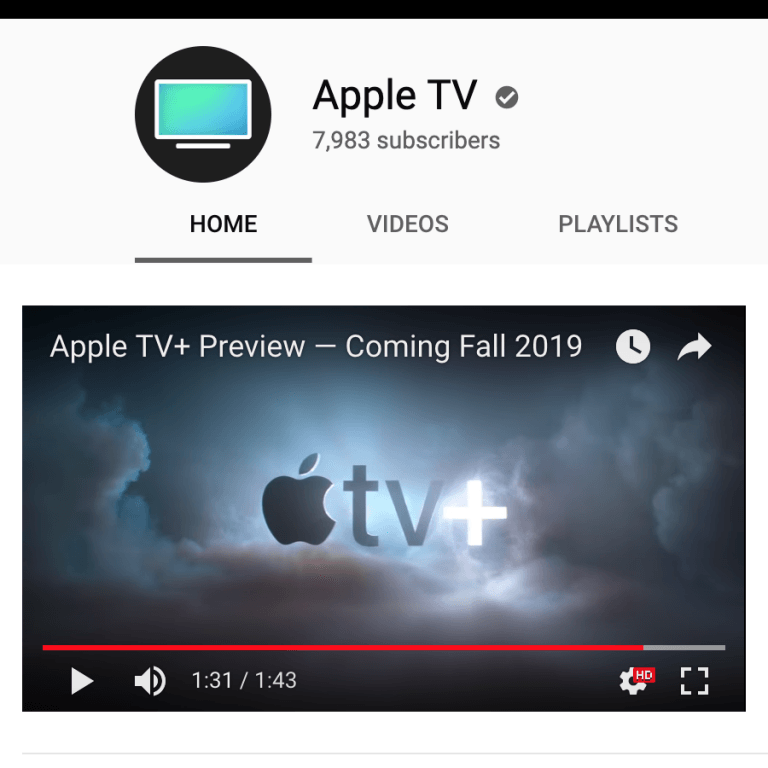 Apple created its own YouTube channel for Apple TV