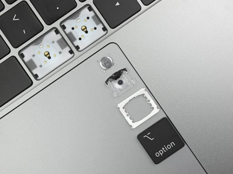 Fourth generation MacBook Butterfly Keyboard from new material