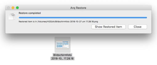 arq backup restore overwrite