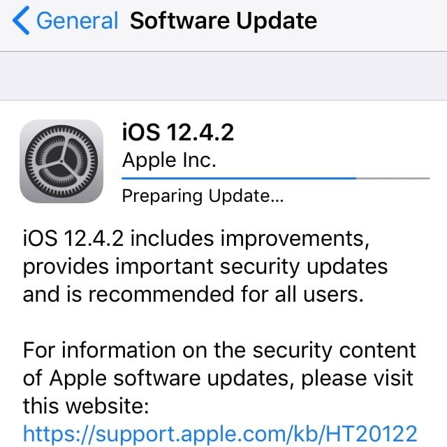 Security updates for older devices with iOS 12