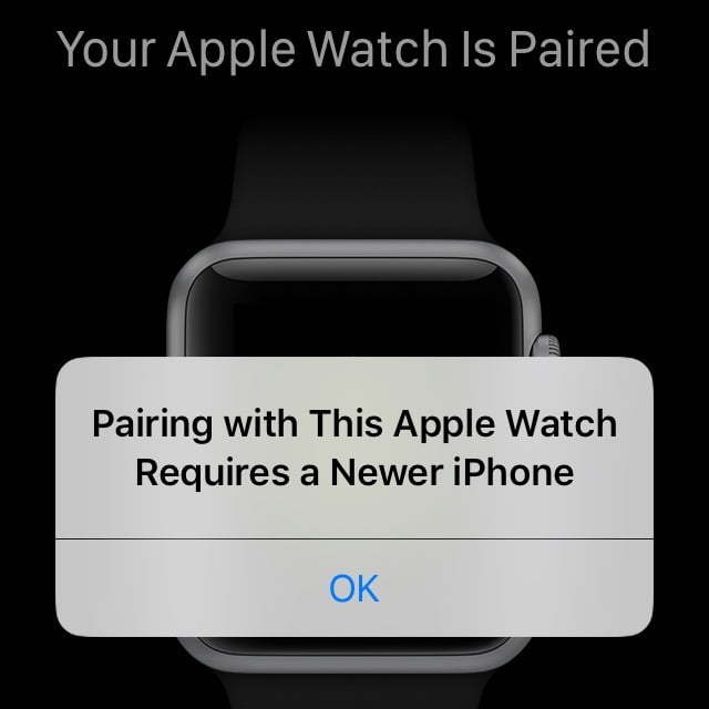 Caution: Apple prohibits coupling of Apple Watches with old iPhones