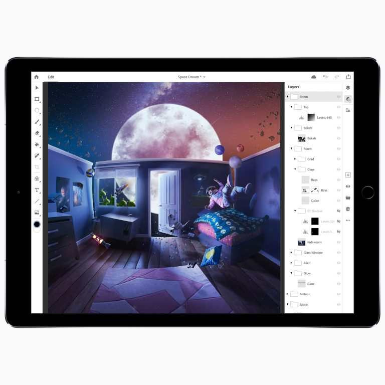 Adobe Photoshop available for iPadOS