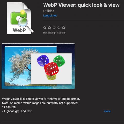 WebP Viewer macos bilder ansehen