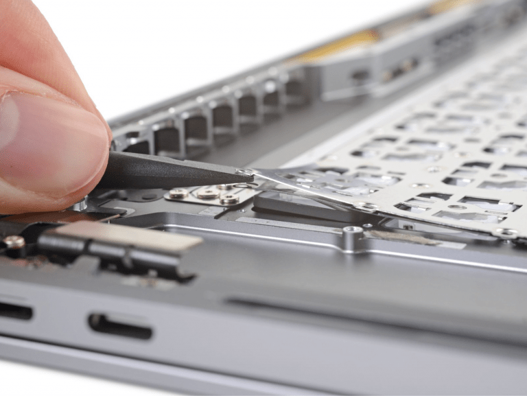 MacBook Pro 16″: Keyboard riveted to top case again