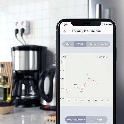satechi dual smart steckdose homekit kaffee