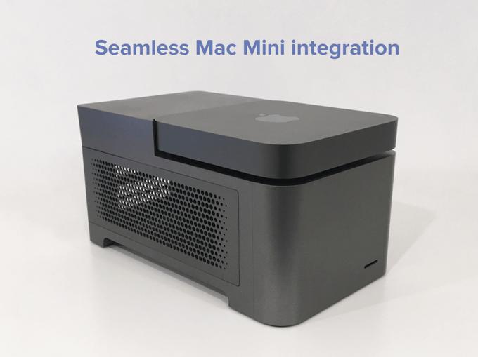 Extension for Mac mini: 2x GPU, 4x SSD