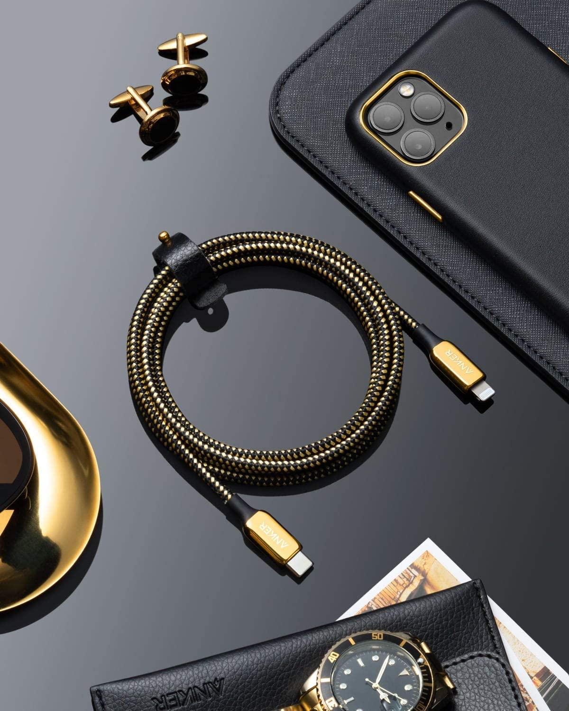 Anker 24k Gold Cable Usb C Lightning Detail