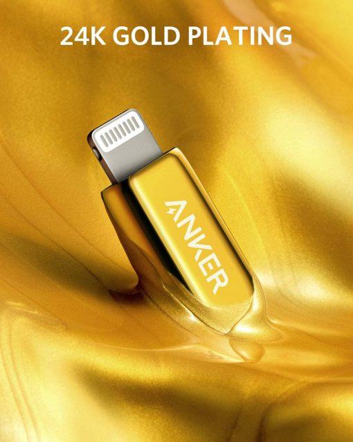 Anker 24k Gold Cable Usb C Lightning Plating
