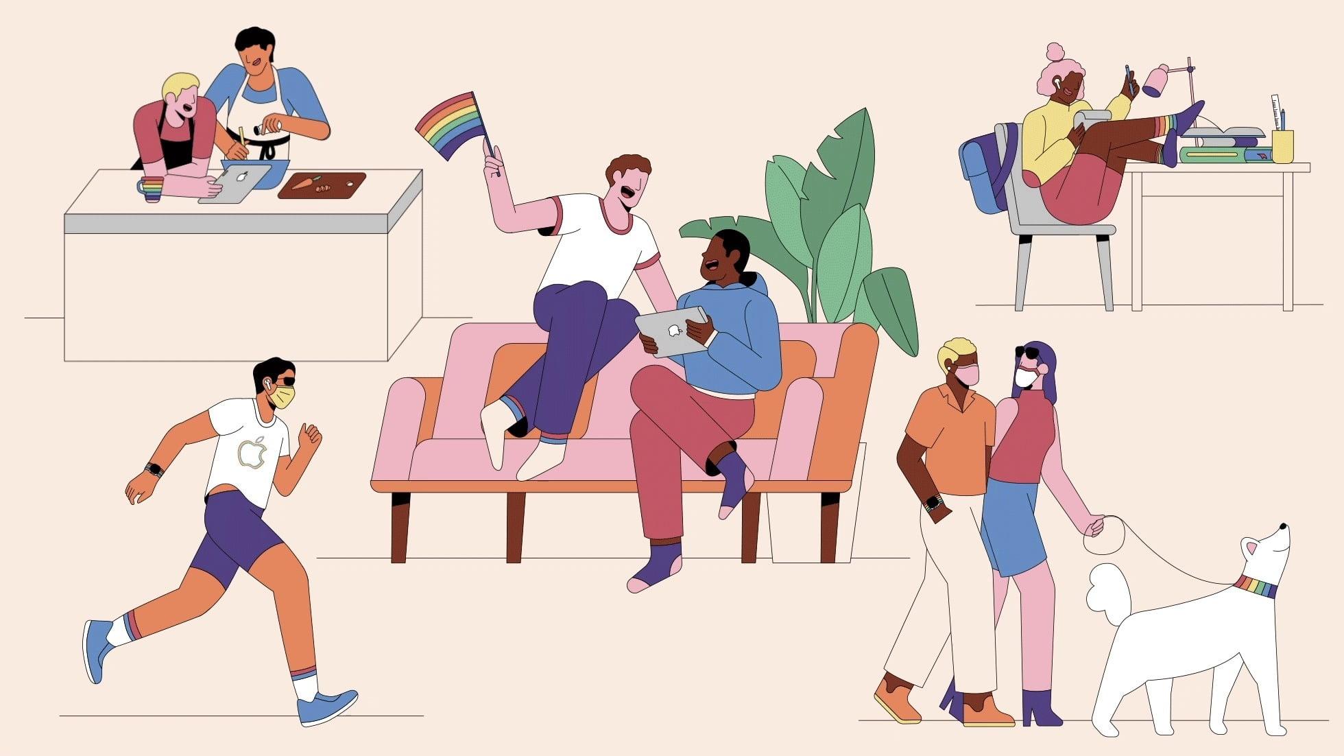 Apple Goes Pride Illustration