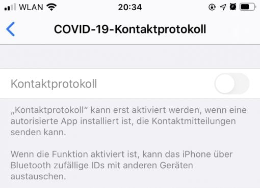 Iphone Covid 19 Api Exposure Notifications