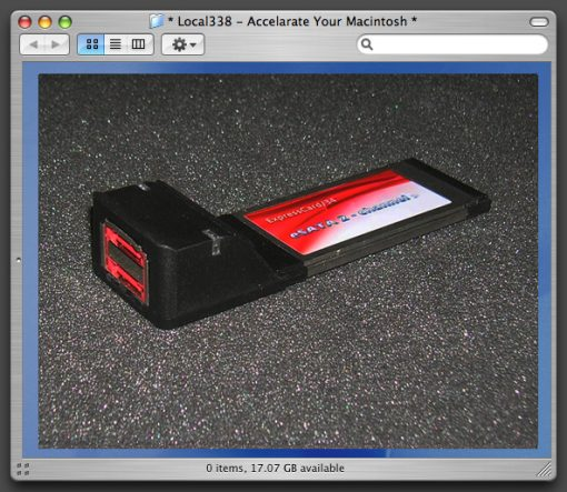 MacBook Pro eSATA Express Card