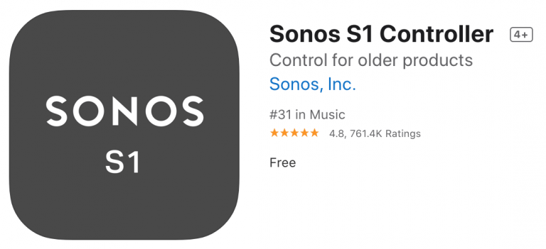 Sonos: System Separation and Two Apps for Old and New Devices