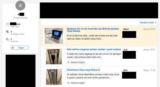 Ebay Kleinanzeigen Betrug Hintergrundstory