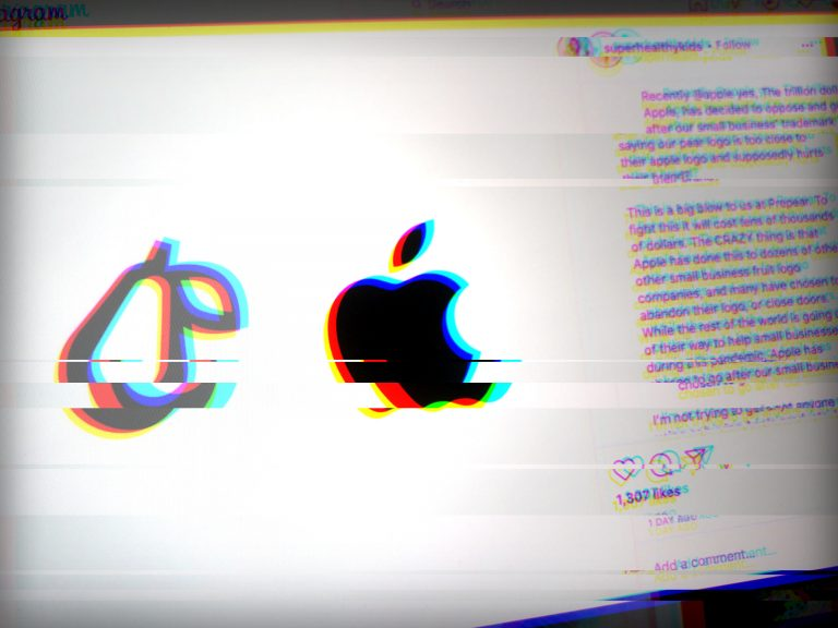 Apple files an objection against pear logo