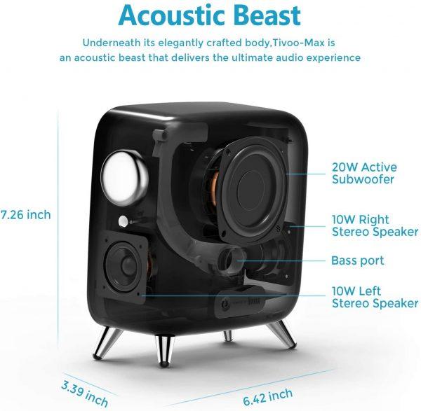 Divoom Tivoo Max Smart Portable Bluetooth LED Speaker Details