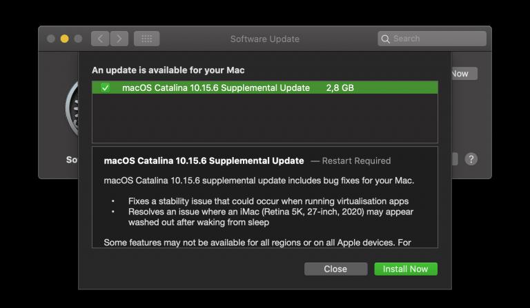 iOS/iPadOS 13.6.1 and macOS Supplemental Update