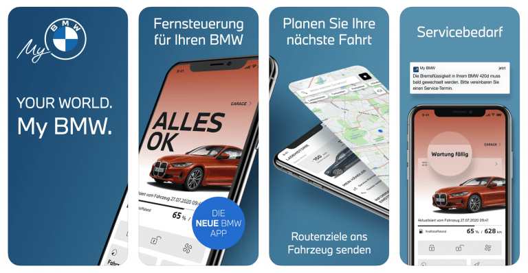 My BMW App replaces old Connect version for BMW vehicles