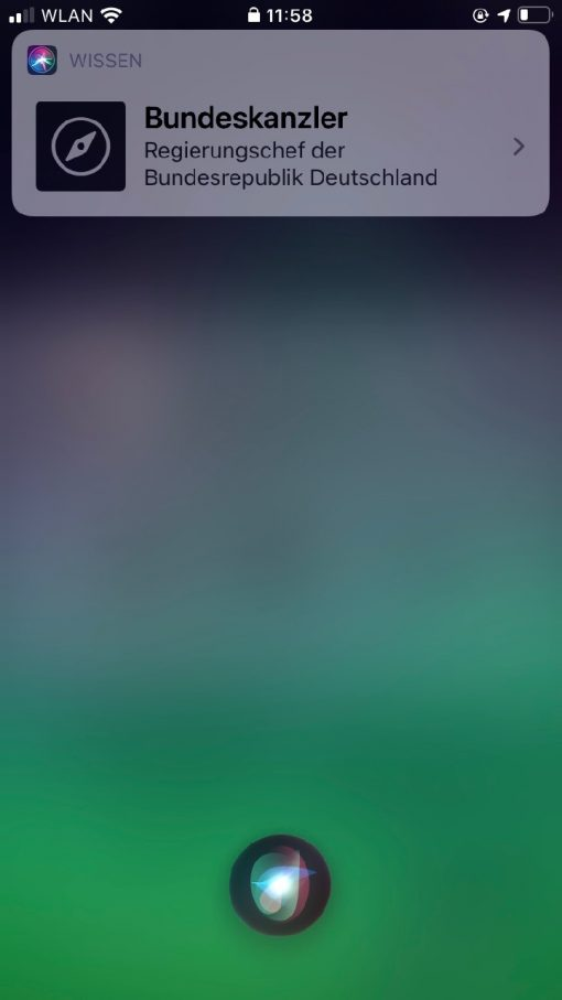 Siri iOS 14 Kanzlerin