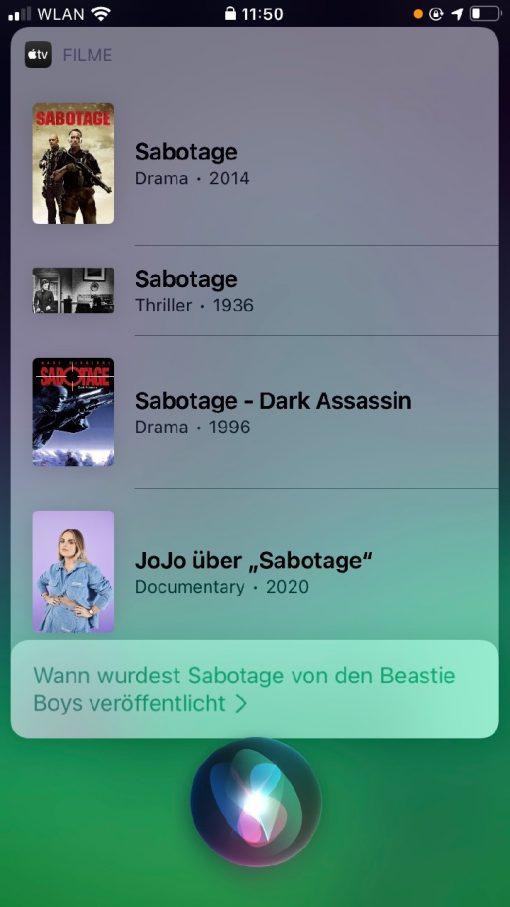 Siri iOS 14 Sabotage