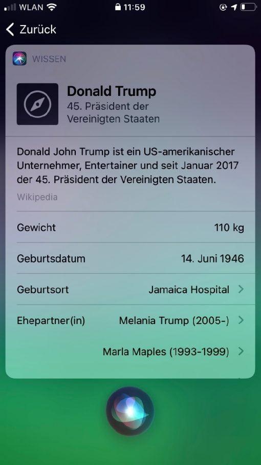 Siri iOS 14 Trump