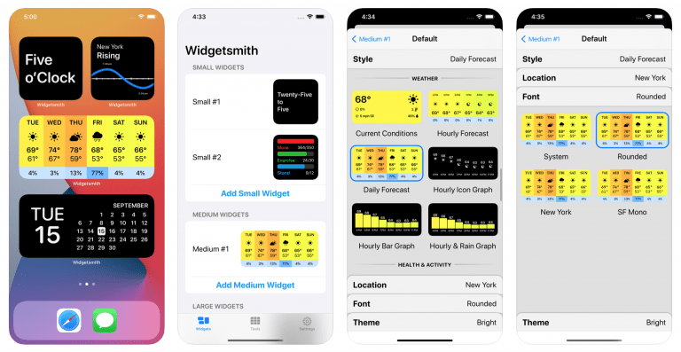 iOS 14: Make your own Widgets with Widgetsmith