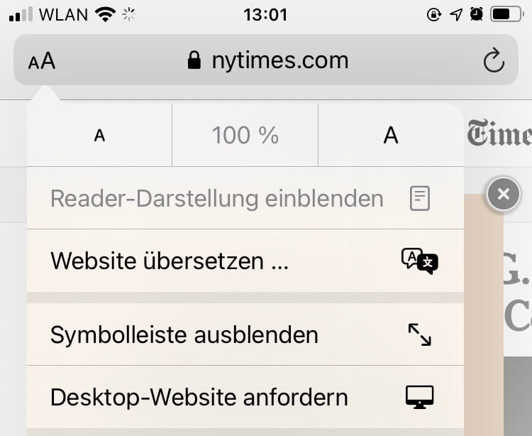 Translate web pages with Safari in iOS 14