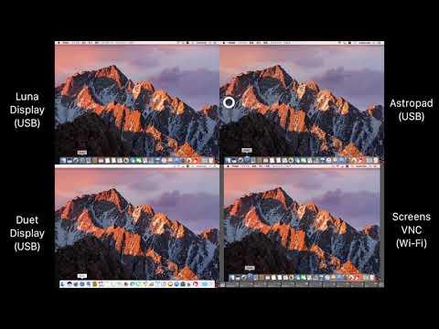 Luna Display vs. Astropad vs. Duet Display vs. Screens VNC Latency.